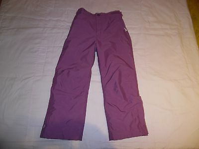 Girls M&S Purple Ski Snowboard Trousers  *Aged 5-6 Years* Ex Con **WATERPROOF**