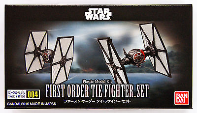Bandai Star Wars Vehicle Model 004 First Order Tie Fighter kit 075738