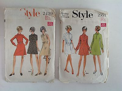 1960s Vintage STYLE 2429 and 2551 dress pattern