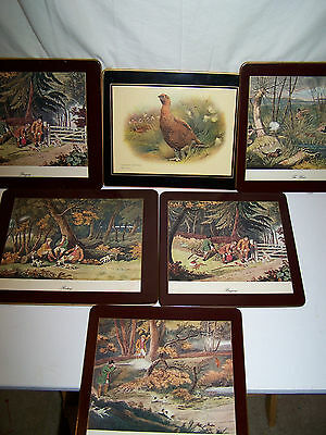 Vintage Placemats Lot Of 6 1 Lady Clare 9 X 8""