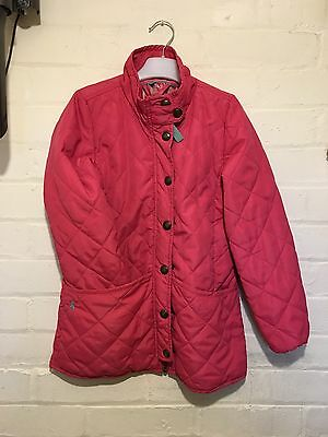 Girls Joules Padded Jacket  Lovely Condition Pretty Pink ��Age 9/10 GC