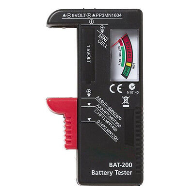 Hot Indicator Universal Battery Cell Tester AA AAA C/D 9V Volt Button Checker UK
