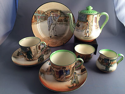 Rare Royal Doulton Series Ware Dickens Tea For Two.