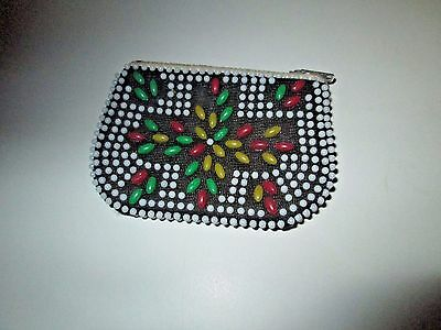 Vintage Beaded Bead Coin Purse