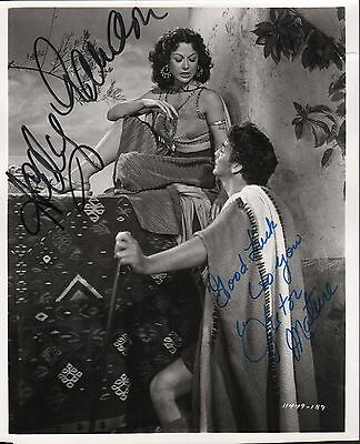 Hedy Lamarr Victor Mature. Authentic autographs. Samson and Delilah signed photo