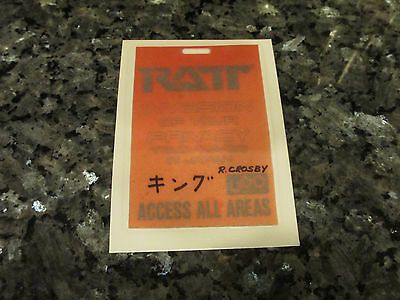 Ratt Tour - Backstage Pass - Robin King Crosby - Invasion Of Your Privacy