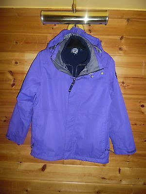 Girls Tog 24 Purple Thick 3 in 1 Winter Coat  *Aged 11-12 Years* Ex Con