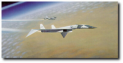 Dance of the Valkyrie by Mike Machat - North American XB-70 - RARE Aviation Art