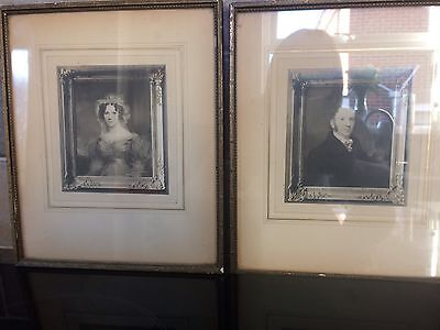 2 X Portrait Framed Prints ? Photographs ? Engravings ? W R Deighton & Sons 1800