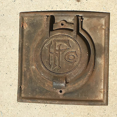 VINTAGE HF Co. Curved Pot Belly Stove Door                                    d1