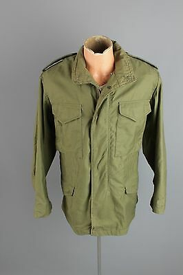Vtg 1980 Mens CLEAN US Army M-65 Cold Weather Field Jacket XS #2121 Coat