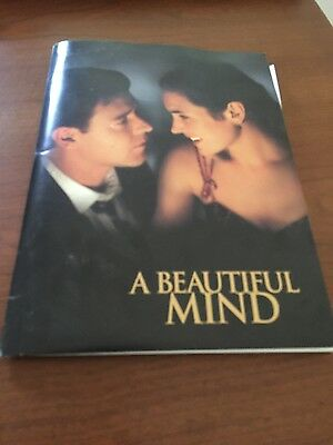 A Beautiful Mind Movie Rare Second Special Press Kit (Starring Russell Crowe)