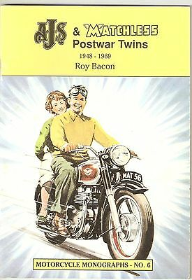 AJS & MATCHLESS POSTWAR TWINS 1948 -1969 ROY BACON MOTORCYCLE MONOGRAPHS - No. 6