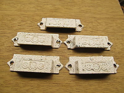 "Lot Of 5 Old Eastlake ?? Drawer Pulls ""as Found""ornate Design"