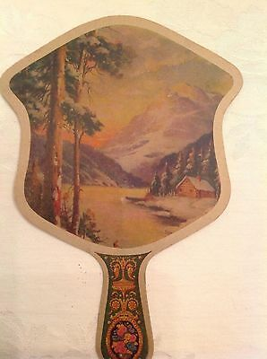 BOONE COFFEE SHOP antique advertising hand fan KEOKUK, IA