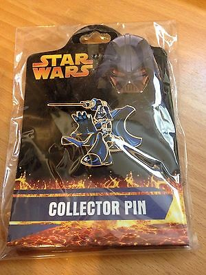 """Star Wars collectors pin NEW Darth Vader blue 1.5"""" FUN from 2005 collectable"""