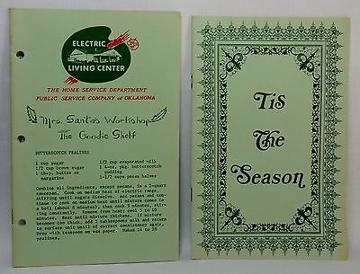 Christmas HOLIDAY RECIPES 1960s Two PSO Electric Company Booklets