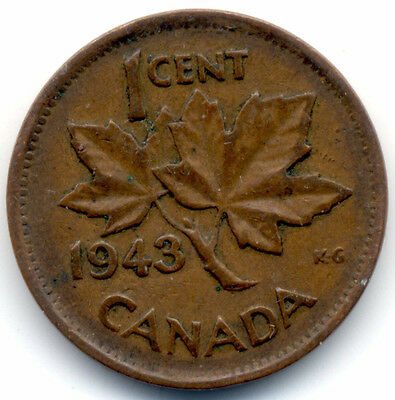 1943 CANADA Penny One Cent FREE SHIPPING