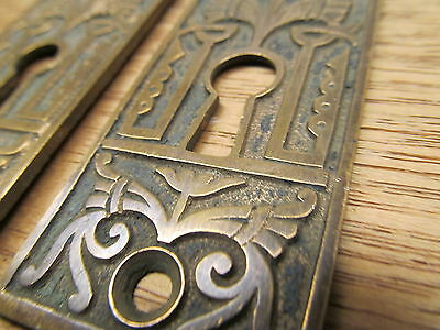 Old Eastlake ?? Brass ? Bronze ? Escutcheons.arabic?? Oriental Ornate Detail