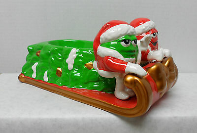 M & M Candy Dish Sled with Christmas Tree GUC by Galerie