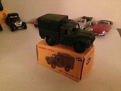 Dinky Army 1 Ton Cargo Truck (641) + Box.