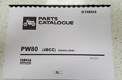 Yamaha Pw80 4Bcc Europe Japan Parts Manual Printed Comb Bound