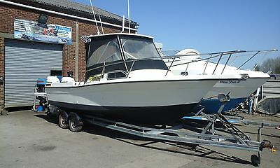 PROJECT 24/25ft SPORTS FISHING AND WAKEBOARDING CUDDY BOAT VERY FAST
