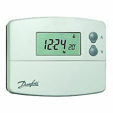 Danfoss TP5000RF-Si Wireless 5/2 Day Programmable Thermostat Timer Battery New
