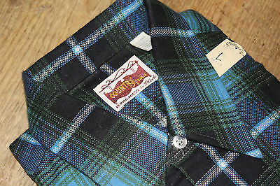 "Vintage New Old Stock "" Country Squire by BLOCK "" Flannel Plaid Shirt with Tags"