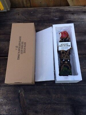 ANGRY ORCHARD CRISP APPLE TALL BEER TAP HANDLE NEW NIB Rare Tree Art face woods