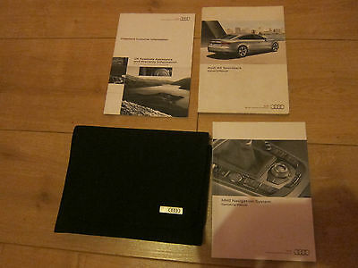 Audi A5 Sportback Owners Handbook Manual and Wallet 09-11