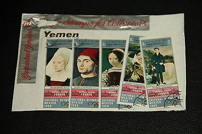 Yemen Stamps X 5 - National Gallery/mexico Olympics