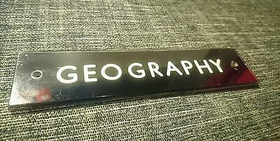 vintage geography reclaimed door sign school