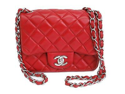 Chanel Matelassé Mini Matelassé Shoulder bag Leather Red A01115 UJ105851