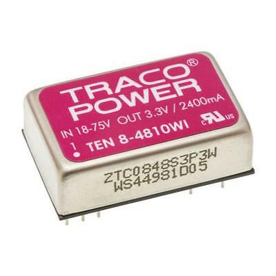 1 x TRACOPOWER Isolated DC-DC Converter TEN 8-4810WI, Vin 18-75V dc Vout 3.3V dc