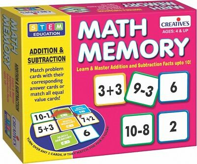 CRE0243 - Creative Educational - Math Memory - Addition, Subtraction