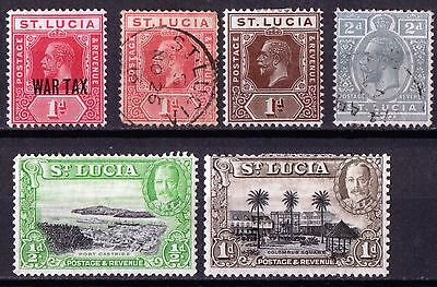 St Lucia George V  MH & Very Fine Used SG79b-114a Cat £14.00+