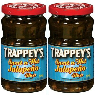 2 PACK TRAPPEY'S SWEET & HOT SLICED JALAPENO PEPPERS free cajun recipe creole