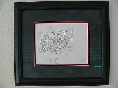 Monster Cereal Original 1973 TV Commercial Production Pencil Drawing Sketch