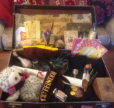 Harry Potter Style Hogwarts Suitcase Filled With Robes And Magical Items