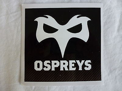 2 x OSPREYS RUGBY OFFICIAL STICKER