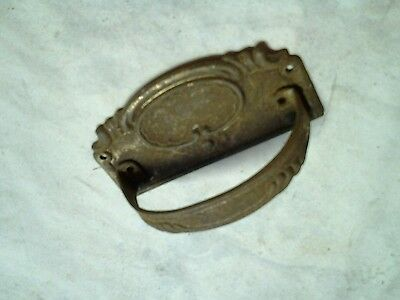 Antique brass draw handle