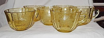 Coffee cups with traditional Madrid pattern from Federal Glass Co.,  Original