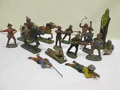 Vintage Elastolin And Lineol Toy Soldiers