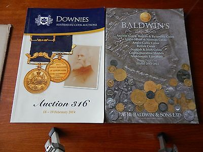 2X Baldwin's Fixed Price List 2013-14 & Downies Australian Coin Auctions 2014