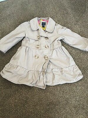 Girls Baby Gap Dusty Pink Coat Mac Age 2