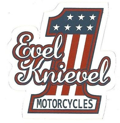 EVEL KNIEVEL  MOTORCYCLE Sticker Decal