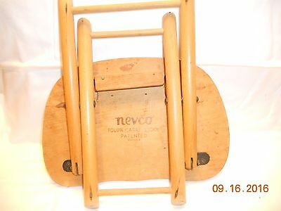 Nevco Fold'n Carry Stool 1950 patented Yugoslavia $REDUCED$