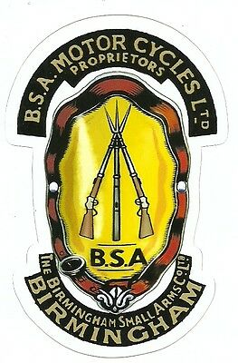 BSA MOTORCYCLE Sticker Decal