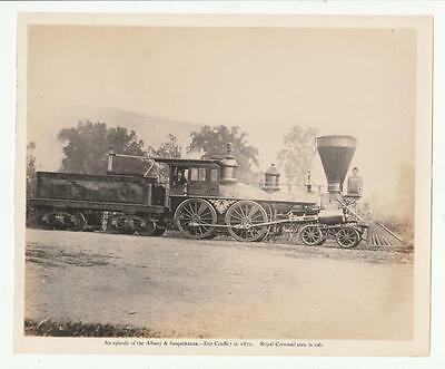 Early Photo ?? Albany & Susquehanna Erie Conflict Royal Cornwall Railroad